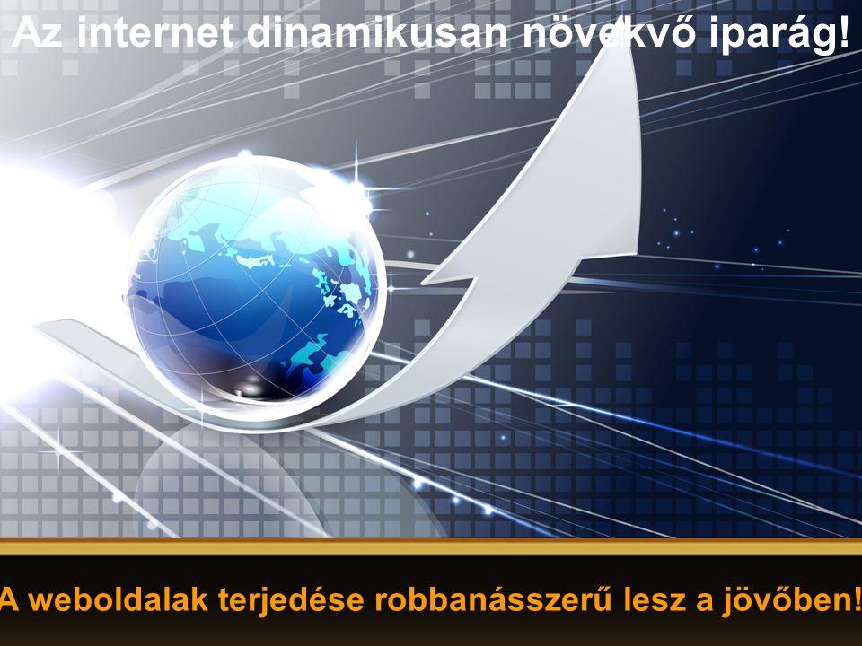Az internet dinamikusan növekvő iparág! A weboldalak terjedése robbanásszerű lesz a jövőben!