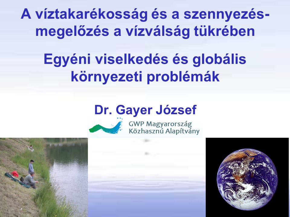 Víz Világjelentés 2012 Az érintettek minél korábban kapcsolódjanak be a döntéshozatali folyamatokba: •javítva a döntések minőségét, •növelve elfogadottságát és •növelve a megvalósítás sikerét A víz és a változások hajtóerői közötti összefüggéseket is feltárja.