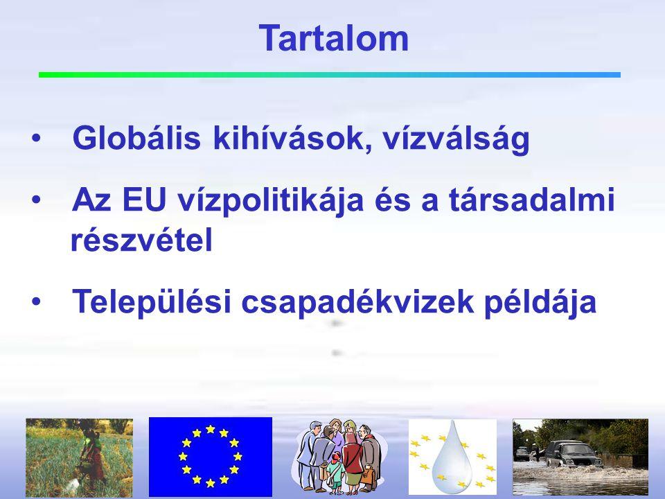 •Az EU vízpolitika céljait 2015-re nem fogjuk elérni.