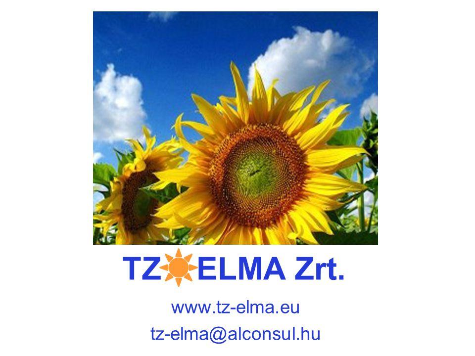 TZ ELMA Zrt. www.tz-elma.eu tz-elma@alconsul.hu