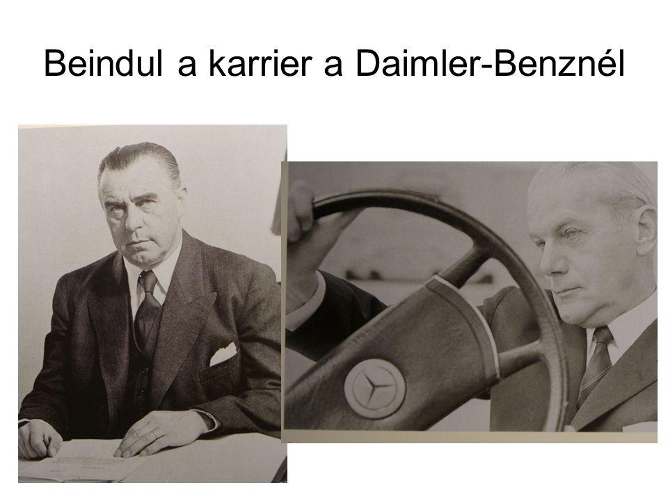 Beindul a karrier a Daimler-Benznél