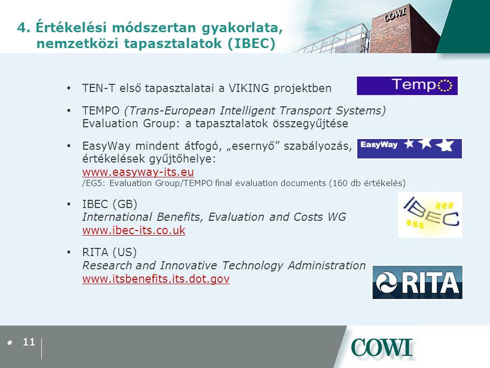 #  TEN-T első tapasztalatai a VIKING projektben  TEMPO (Trans-European Intelligent Transport Systems) Evaluation Group: a tapasztalatok összegyűjtés