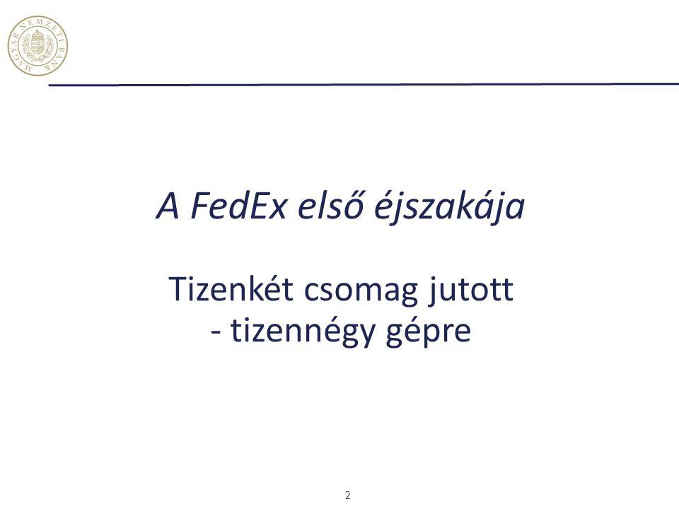 A FedEx első éjszakája Tizenkét csomag jutott - tizennégy gépre 2