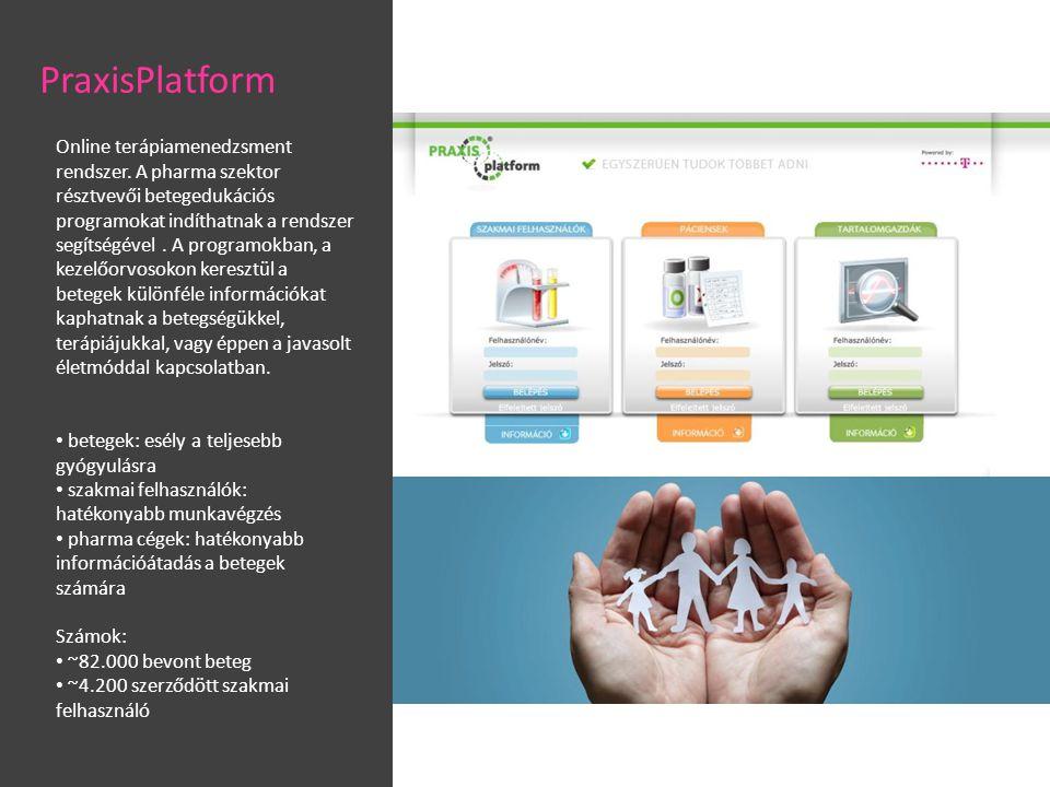 Online terápiamenedzsment rendszer.