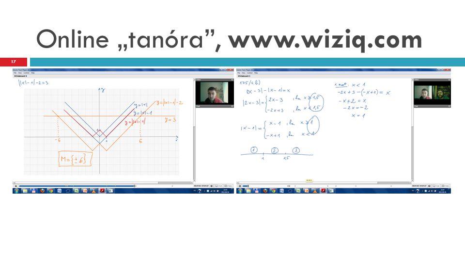 """Online """"tanóra"""", www.wiziq.com 17"""