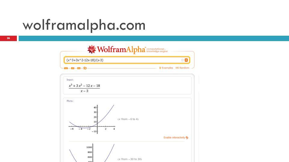 wolframalpha.com 26