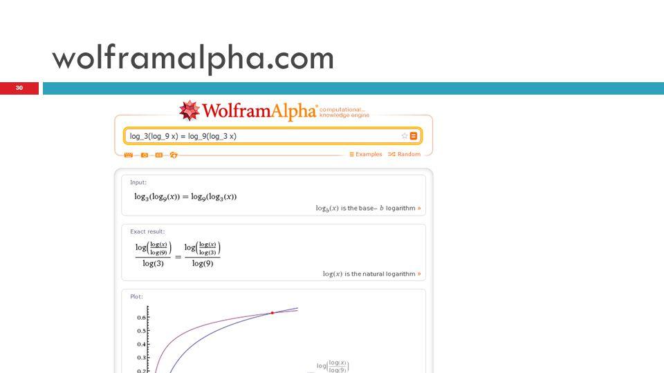 wolframalpha.com 30