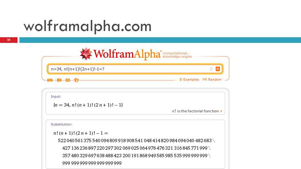 wolframalpha.com 32