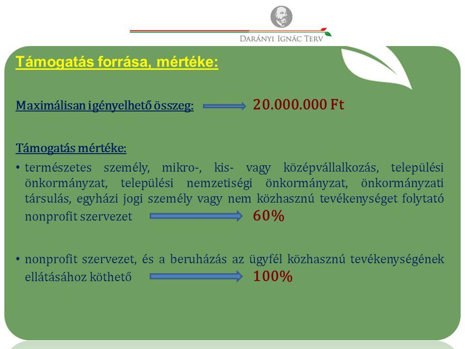 Támogatás igénybevételének feltételei: • Az ügyfél abban az esetben jogosult támogatási kérelem benyújtására, amennyiben a mezőgazdasági tevékenységéből származó árbevétele az 50%-ot nem érte el a 2011.