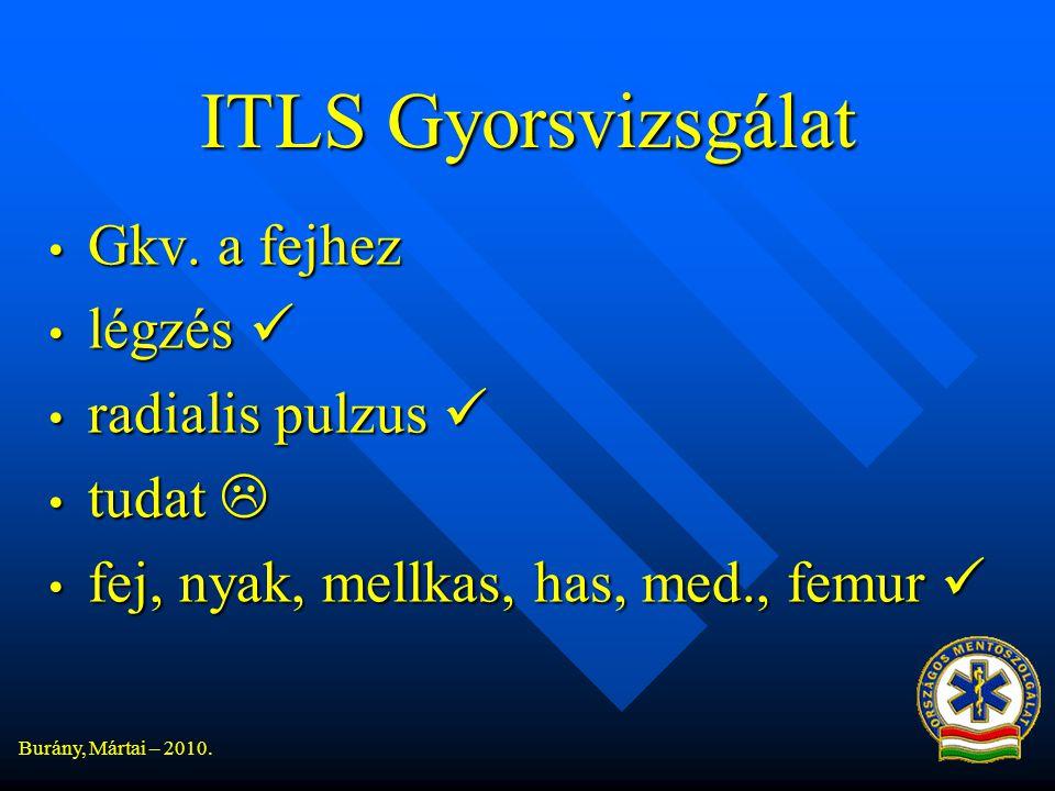 Burány, Mártai – 2010.ITLS Gyorsvizsgálat • Gkv.