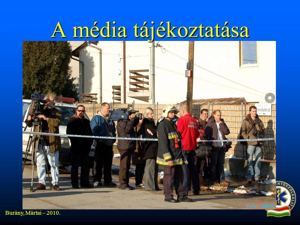 Burány, Mártai – 2010. A média tájékoztatása