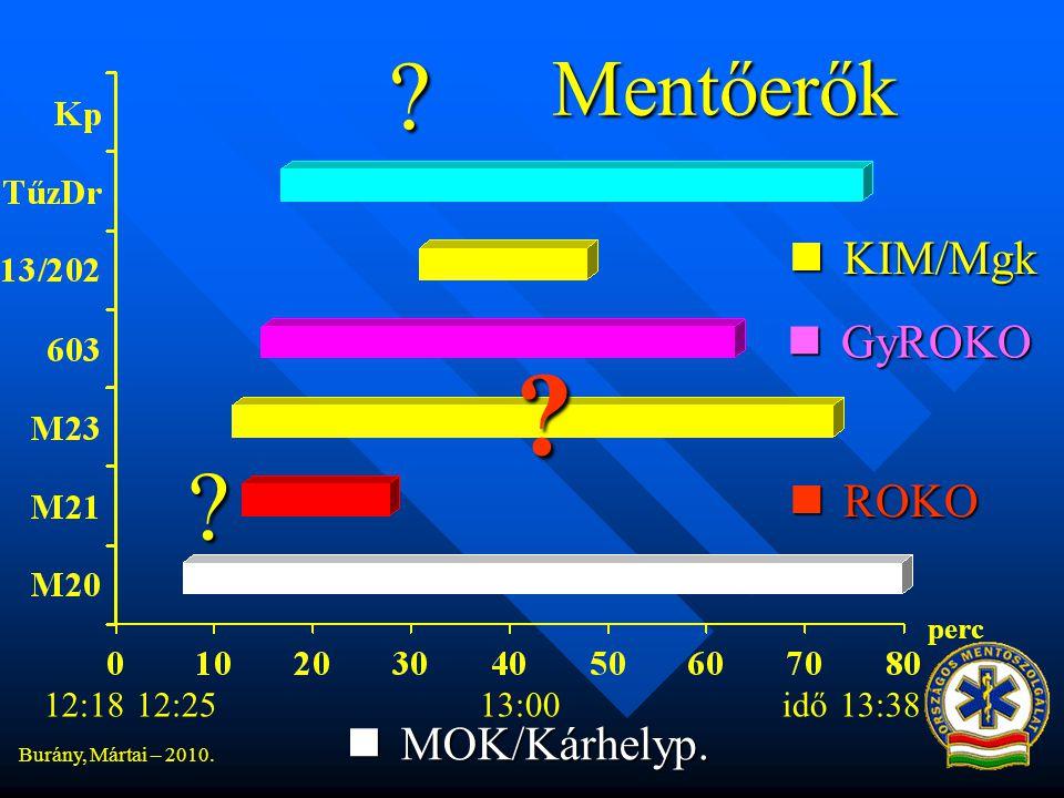Burány, Mártai – 2010.Mentőerők 12:1812:2513:0013:38 perc idő  MOK/Kárhelyp.