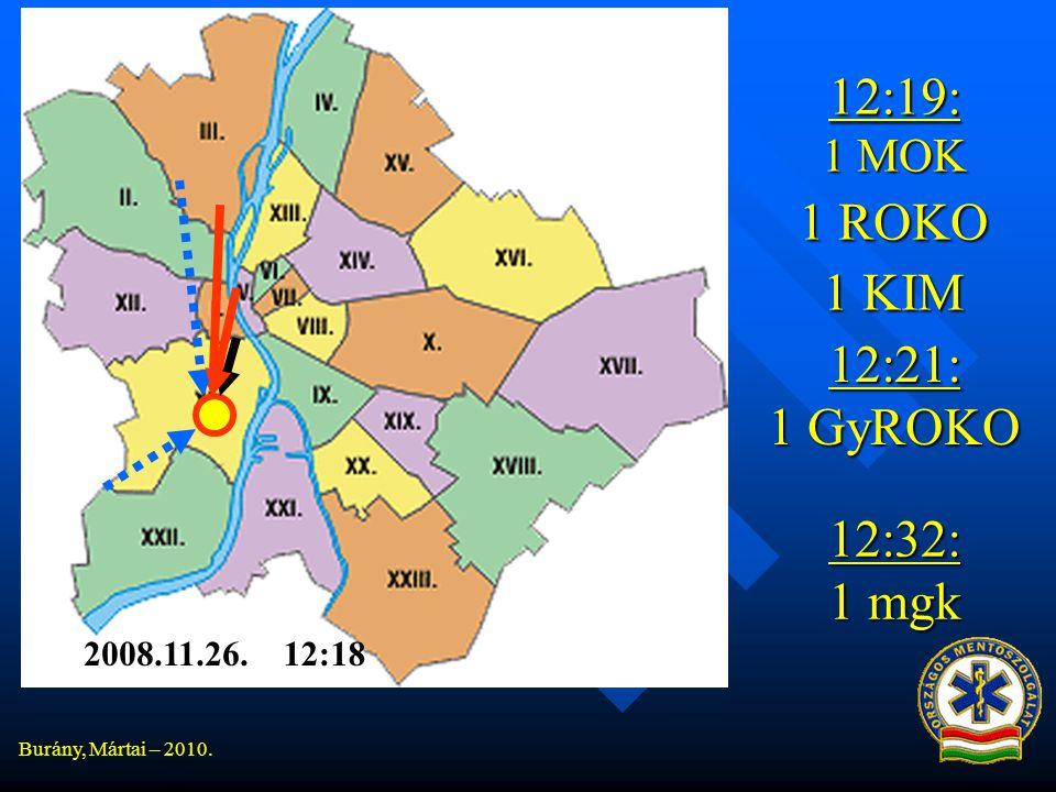 Burány, Mártai – 2010. 12:19: 1 MOK 1 ROKO 1 KIM 12:21: 1 GyROKO 12:18 12:32: 1 mgk 2008.11.26.