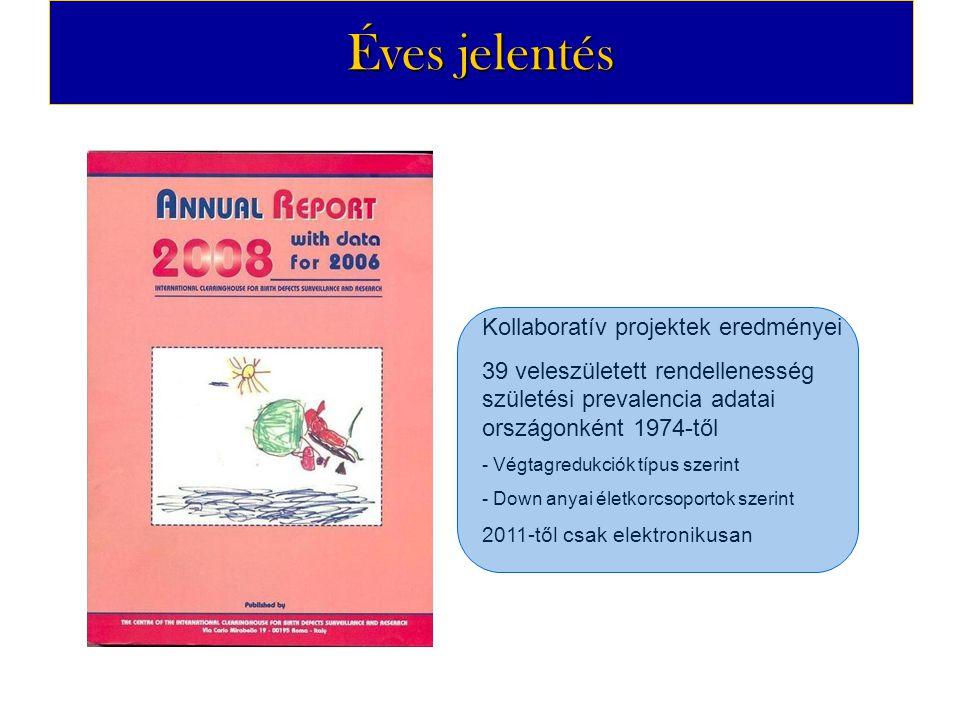 Éves jelentés Kollaboratív projektek eredményei 39 veleszületett rendellenesség születési prevalencia adatai országonként 1974-től - Végtagredukciók t