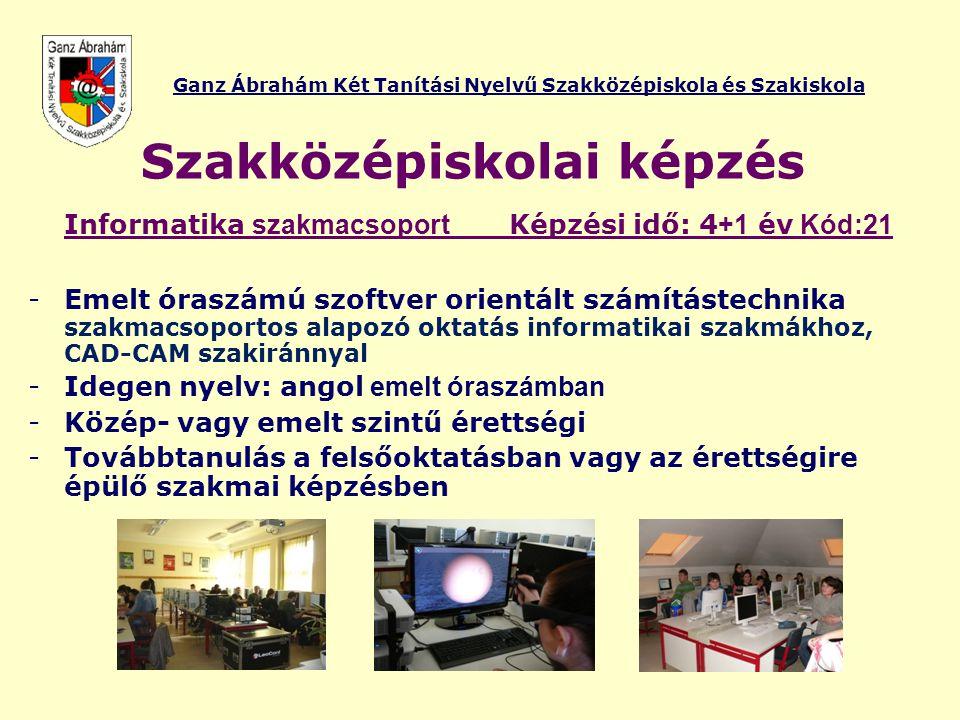 Ganz Ábrahám Két Tanítási Nyelvű Szakközépiskola és Szakiskola Verse n yek 2012.
