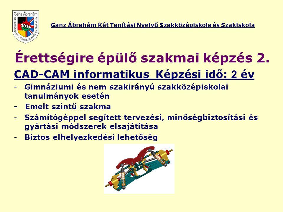 Ganz Ábrahám Két Tanítási Nyelvű Szakközépiskola és Szakiskola Viszontlátásra a Ganz Iskolában.