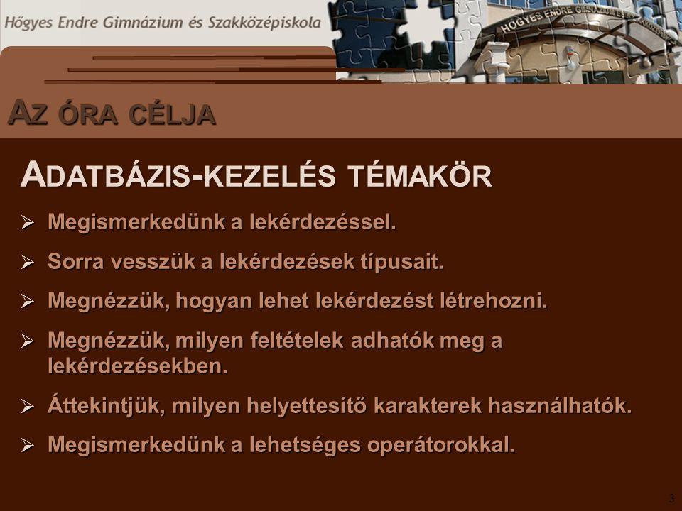 S ZÖVEGES DOKUMENTUMOK ELŐFORDULÁSA L OGIKAI OPERÁTOROK IV.