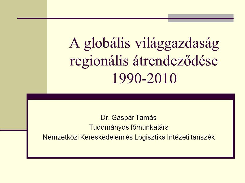 A globális világgazdaság regionális átrendeződése 1990-2010 Dr.