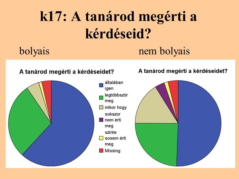 k17: A tanárod megérti a kérdéseid? bolyaisnem bolyais