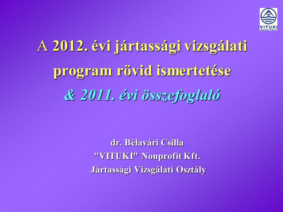A 2012. évi jártassági vizsgálati program rövid ismertetése & 2011.