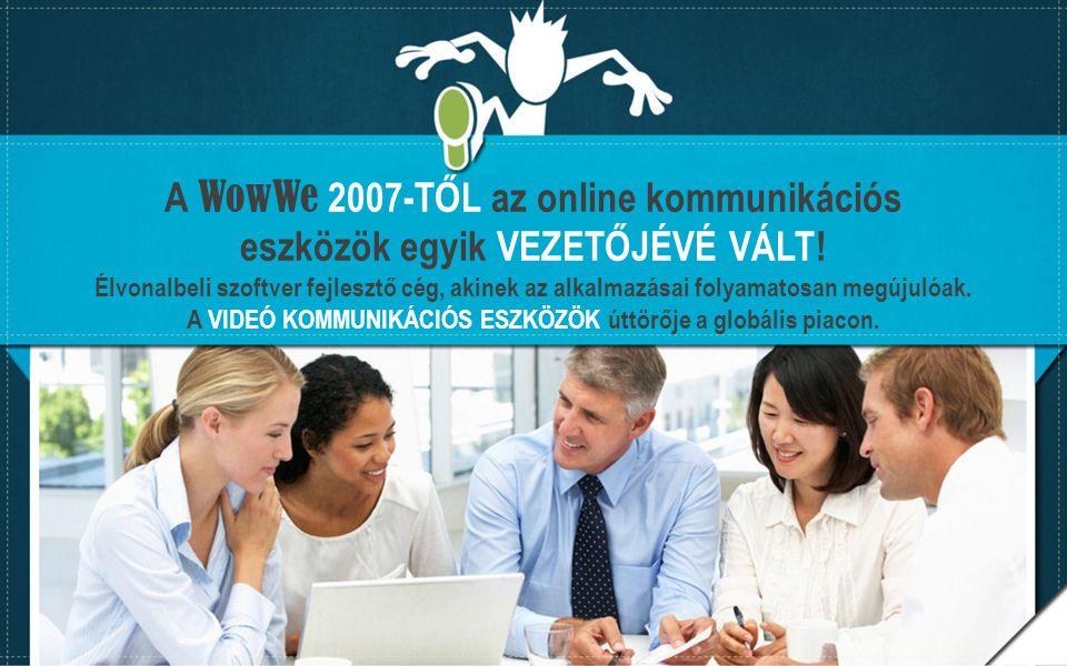 A WowWe 2007-TŐL az online kommunikációs eszközök egyik VEZETŐJÉVÉ VÁLT! Élvonalbeli szoftver fejlesztő cég, akinek az alkalmazásai folyamatosan megúj