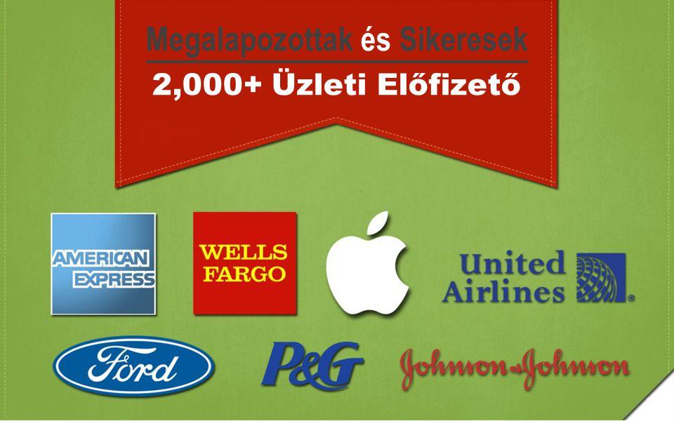 Megalapozottak és Sikeresek 2,000+ Üzleti Előfizető