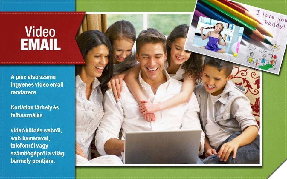 A piac első számú ingyenes video email rendszere Korlátlan tárhely és felhasználás videó küldés webről, web kamerával, telefonról vagy számítógépről a világ bármely pontjára.