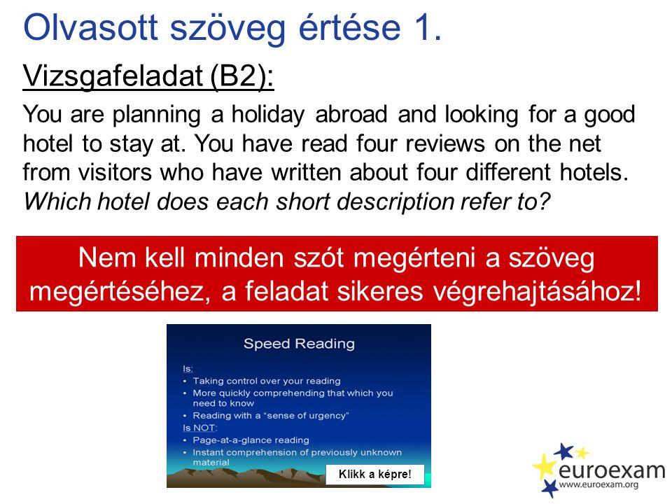 Közösségi média Klikk a logóra.Facebook / Euroexam: 2011.
