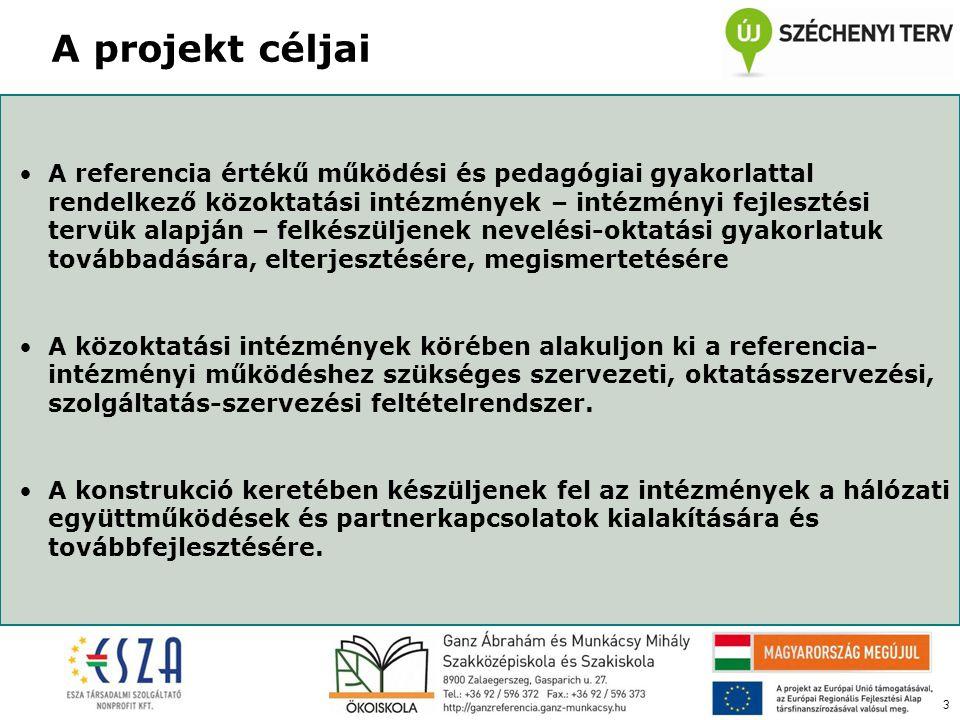 3 •A referencia értékű működési és pedagógiai gyakorlattal rendelkező közoktatási intézmények – intézményi fejlesztési tervük alapján – felkészüljenek