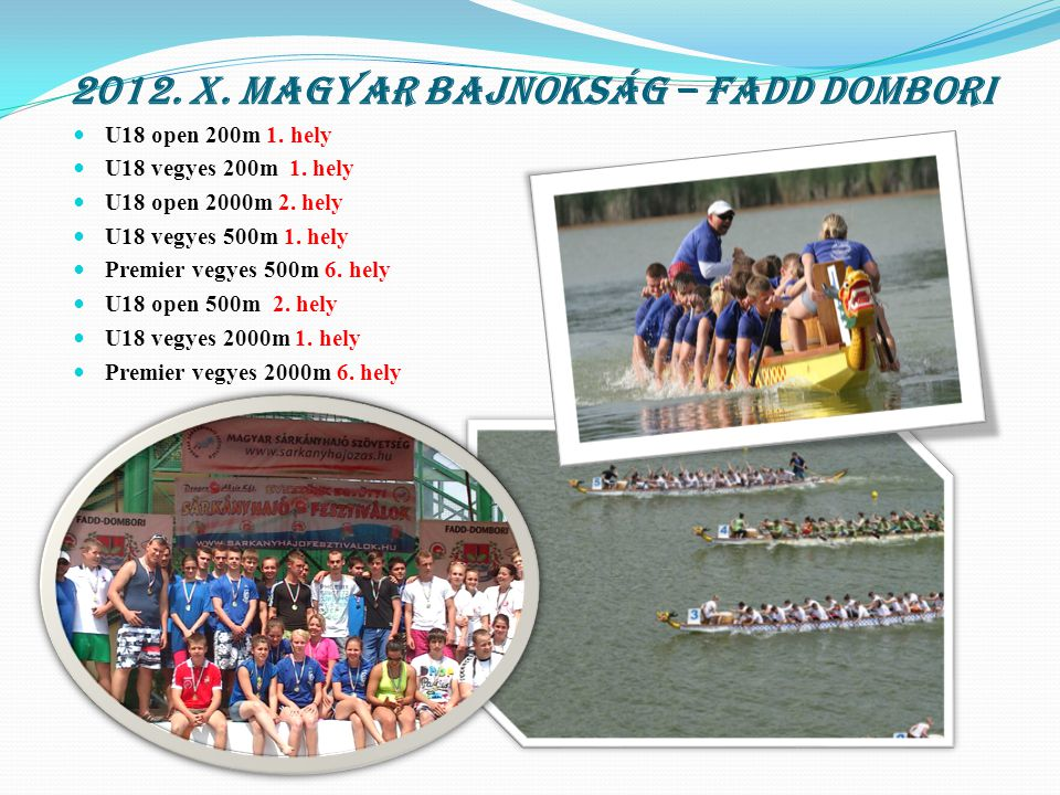 2012. Bajai hosszú távú verseny 8km U18-23 8km - 2. hely