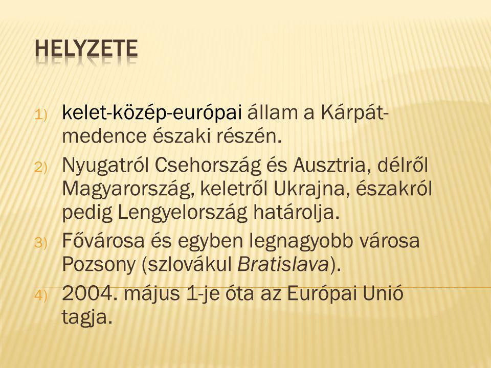 1) kelet-közép-európai állam a Kárpát- medence északi részén.