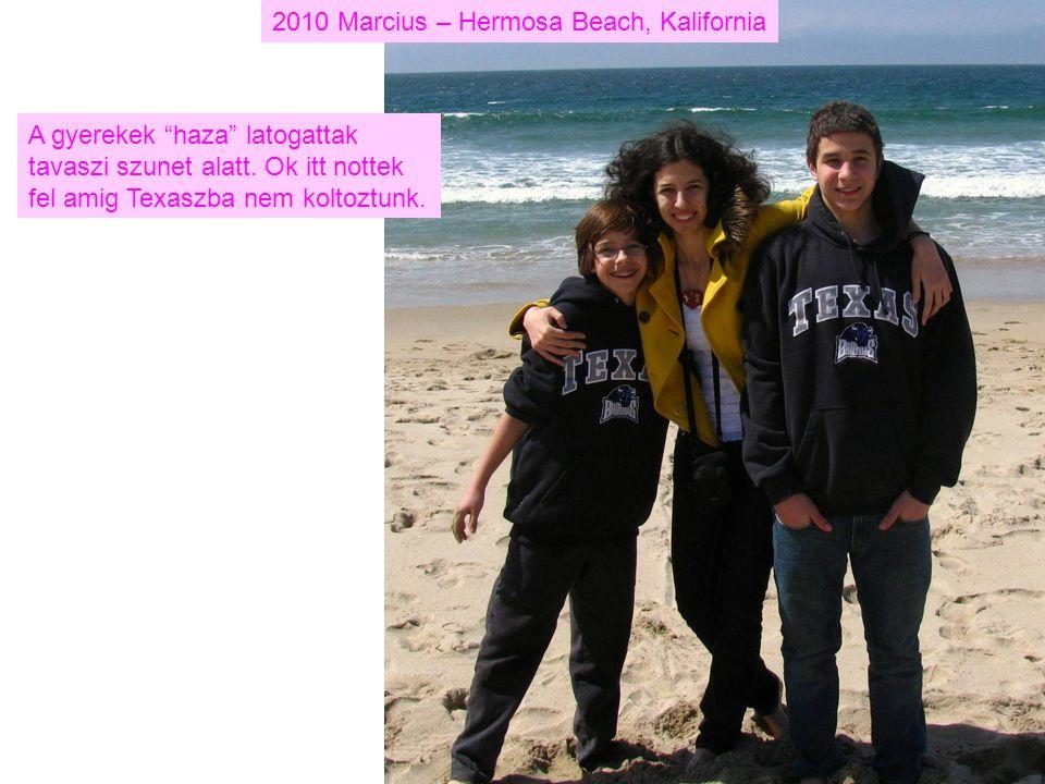 2010 Marcius – Hermosa Beach, Kalifornia A gyerekek haza latogattak tavaszi szunet alatt.