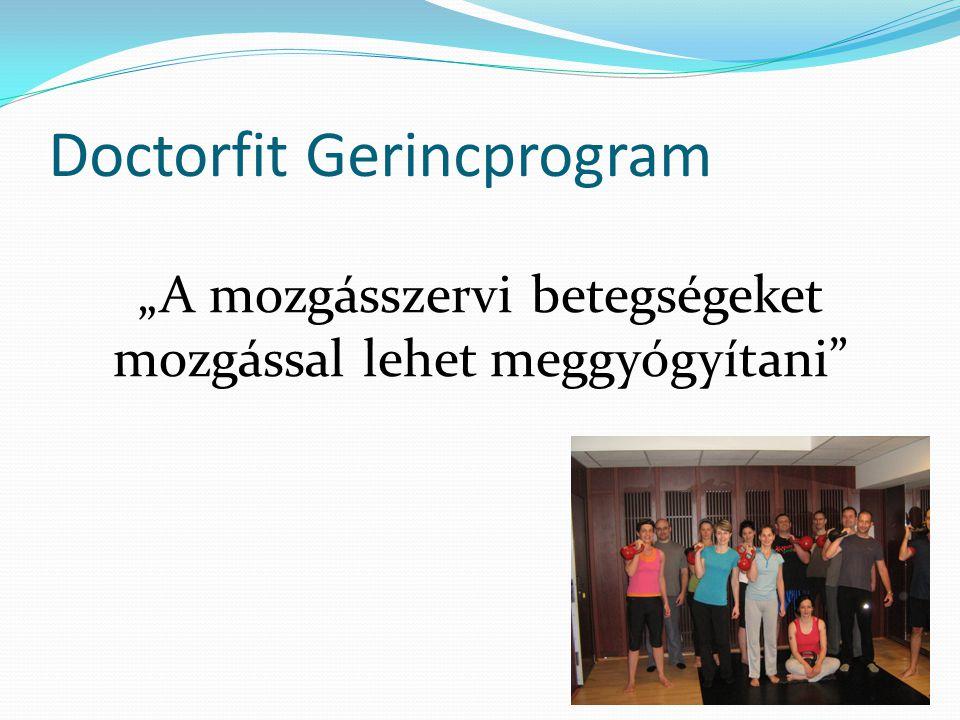 """Doctorfit Gerincprogram """"A mozgásszervi betegségeket mozgással lehet meggyógyítani"""""""