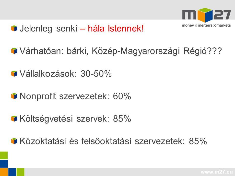 www.m27.eu Jelenleg senki – hála Istennek.Várhatóan: bárki, Közép-Magyarországi Régió??.
