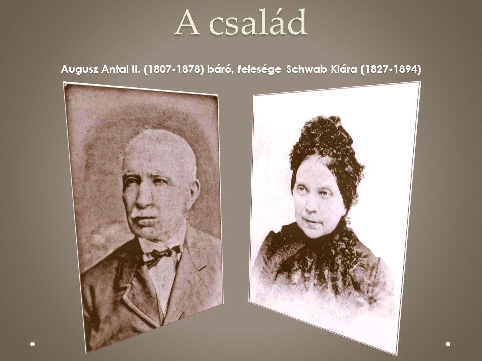 A család Augusz Antal II. (1807-1878) báró, felesége Schwab Klára (1827-1894)