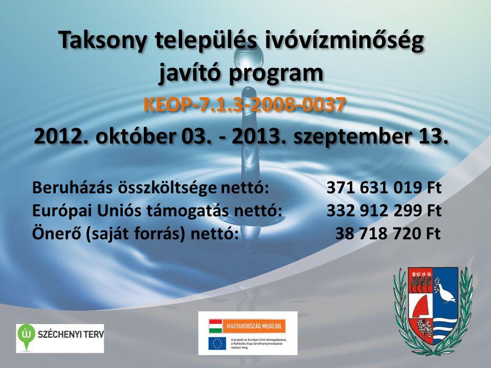 Taksony település ivóvízminőség javító program 2012.