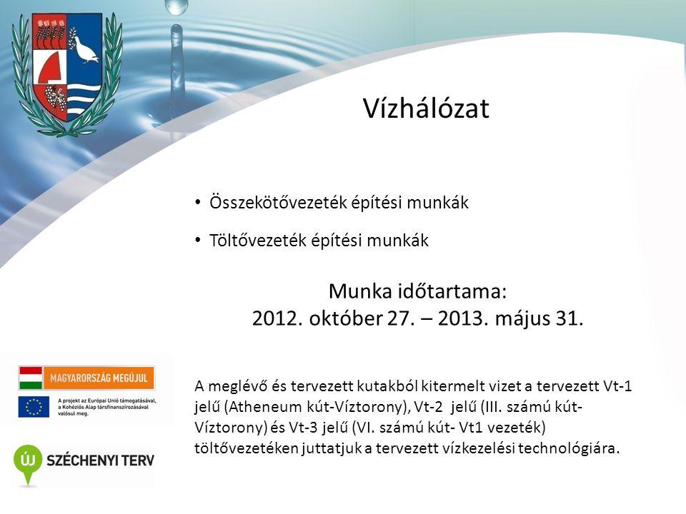 Vízműépület-vízműtelep • Épületautomatika gyengeáramú munkák • Épületgépészeti munkák • Vízműtelep építési és szakipari munkák • Vízműtelep kertészeti munkák Munka időtartama: 2012.
