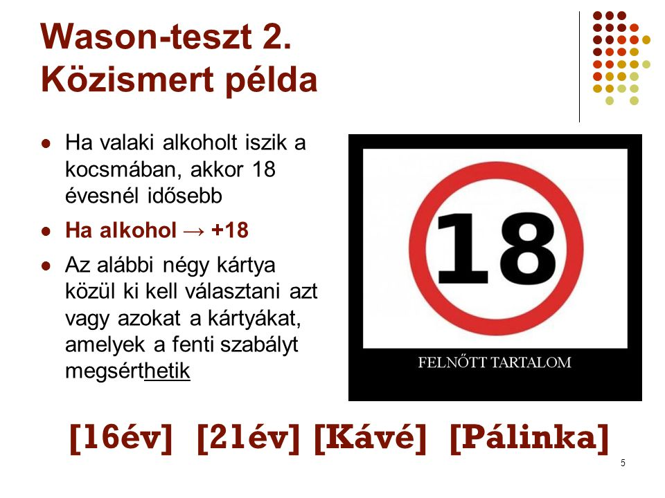 5 Wason-teszt 2.