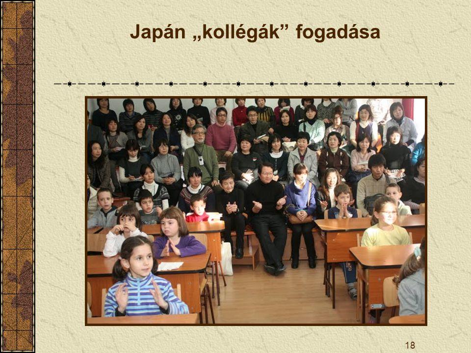 """18 Japán """"kollégák"""" fogadása"""