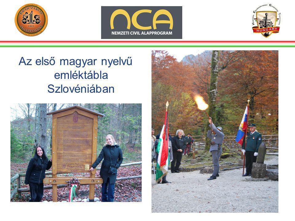 Az első magyar nyelvű emléktábla Szlovéniában