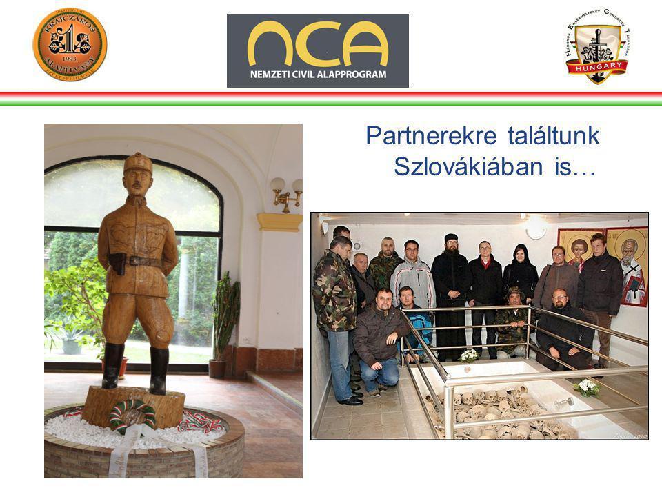 Partnerekre találtunk Szlovákiában is…