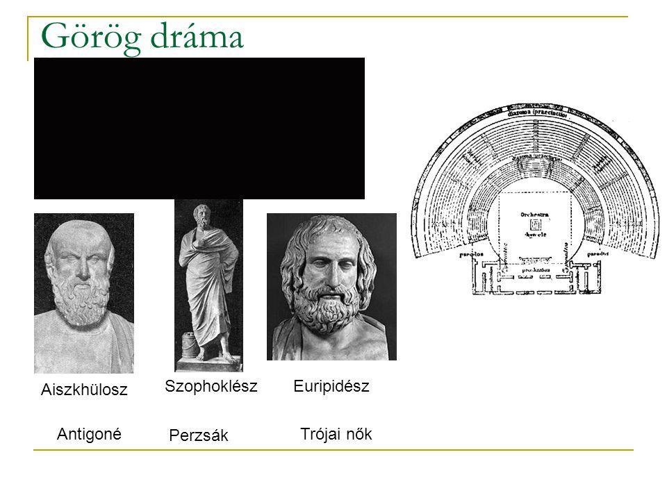 Görög dráma Aiszkhülosz Perzsák Szophoklész Euripidész AntigonéTrójai nők
