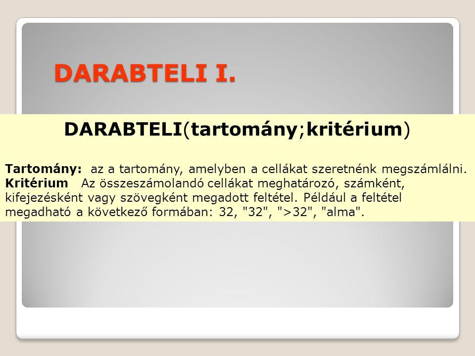 DARABTELI I.