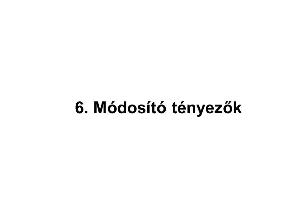 6. Módosító tényezők
