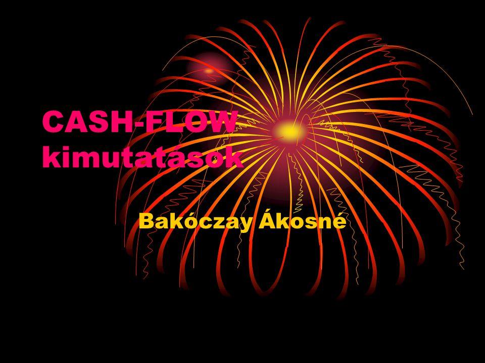 CASH-FLOW kimutatások Bakóczay Ákosné