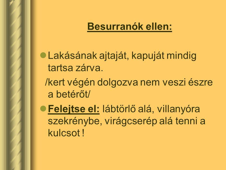 Trükkösök ellen:  Tudnia kell: hivatalokból NEM mennek házhoz ügyet intézni.