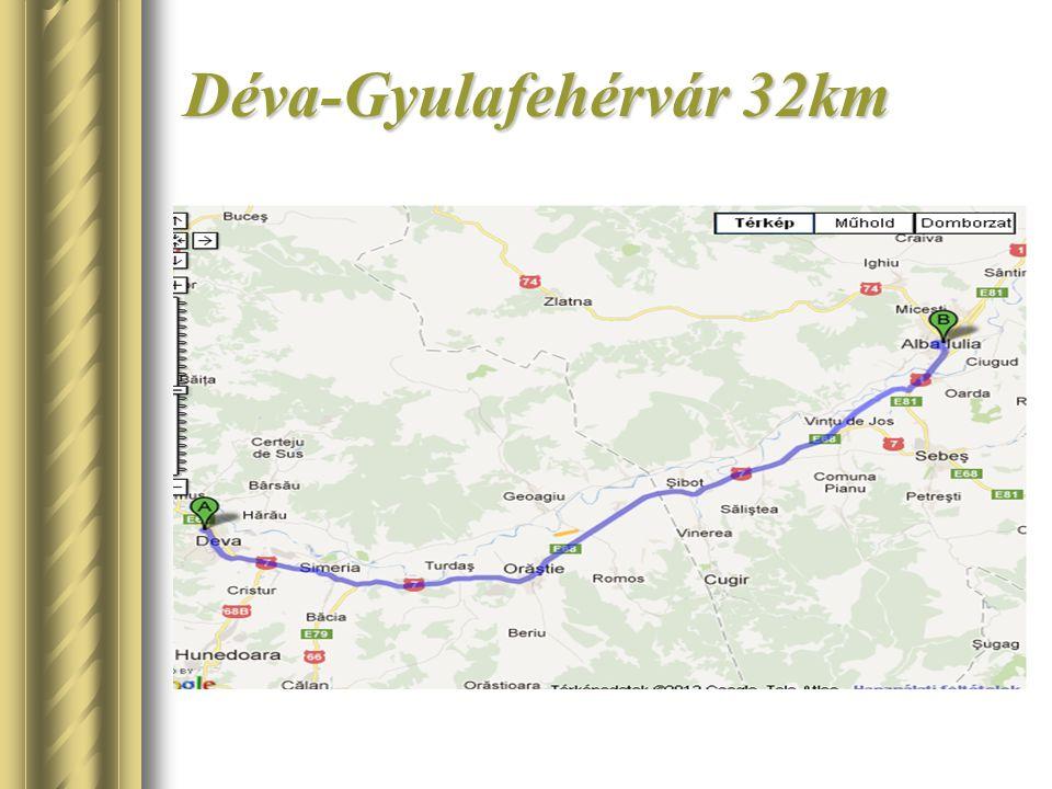 Déva-Gyulafehérvár 32km