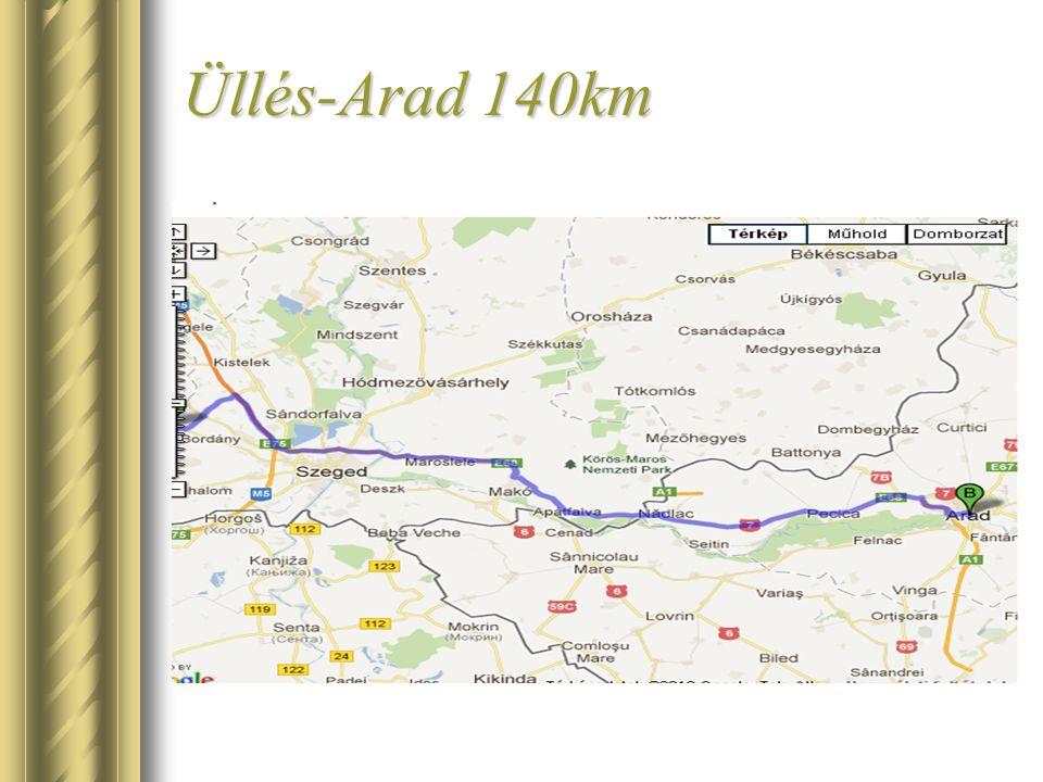 Üllés-Arad 140km