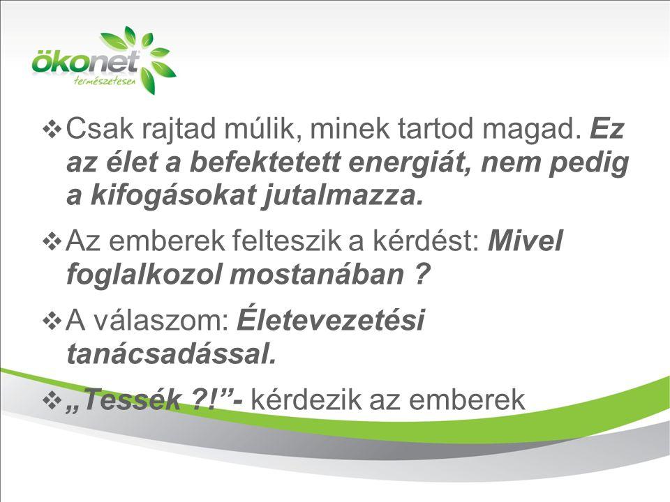 2010. 9. 8.  Csak rajtad múlik, minek tartod magad. Ez az élet a befektetett energiát, nem pedig a kifogásokat jutalmazza.  Az emberek felteszik a k