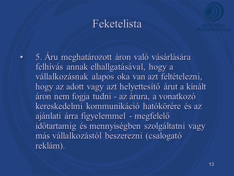 13 Feketelista •5.